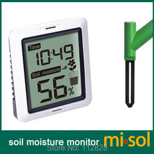 MISOL/10 units of Soil moisture monitor wireless battery powered, wireless soil moisture with display
