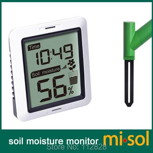 Misol/10 unidades de umidade do solo monitor sem fio alimentado por bateria, umidade do solo sem fio com display