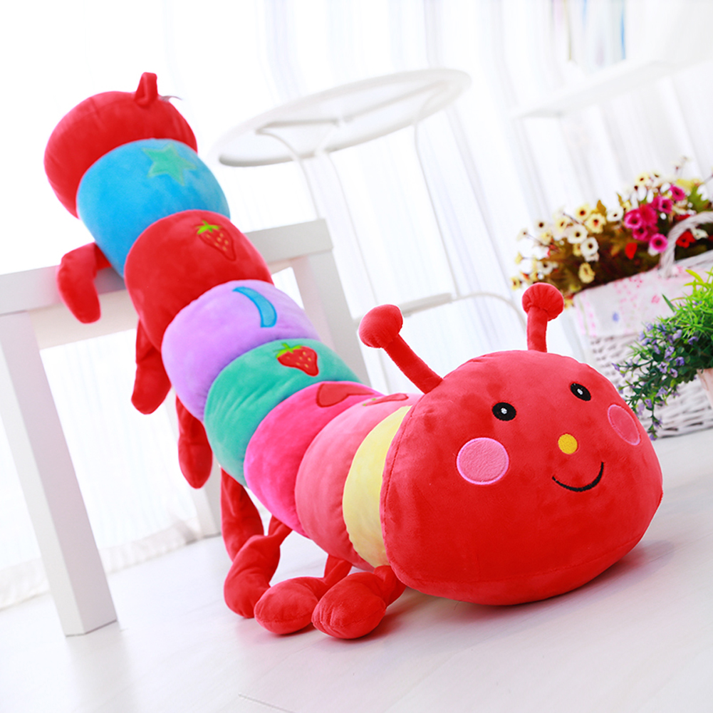 55/70/90/110cm Lovely Animal Plush Doll Toy Soft Plush Caterpillars Hold Pillow Doll Toys For Children Baby&Kid Plush Toys  lovely sing dance dog toy pusheen cotton soft plush hold doll antistress for children baby