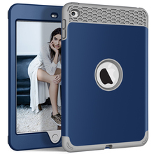 For iPad Mini 5/4 Case Kids Safe Heavy Duty 3 in 1 Full Body PC Silicone Bumper Shockproof Cover for 5th Generation