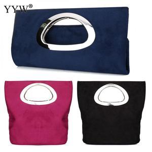 Image 5 - New  evening Clutches Bag womens Blue clutch purse fashion Handbags Folding Bucket Bag  totes wedding Casual torebki damskie