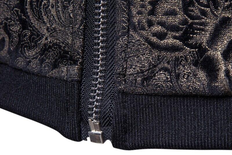 Paisley 2017 Automne Masculino Imprimer Or Hiver Manteaux Vestes Collier Casaco Mâle Occasionnel Support Jk015 Veste Mens Hommes 1EnqZW1r