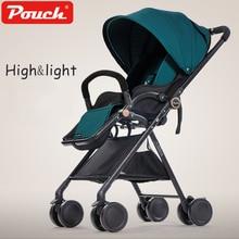 Pouch A06 Baby Stroller dapat duduk / berbaring High LandSpace Light weight Folding Pram Baby Stroller dengan tas belanja berat hanya 4.9kg