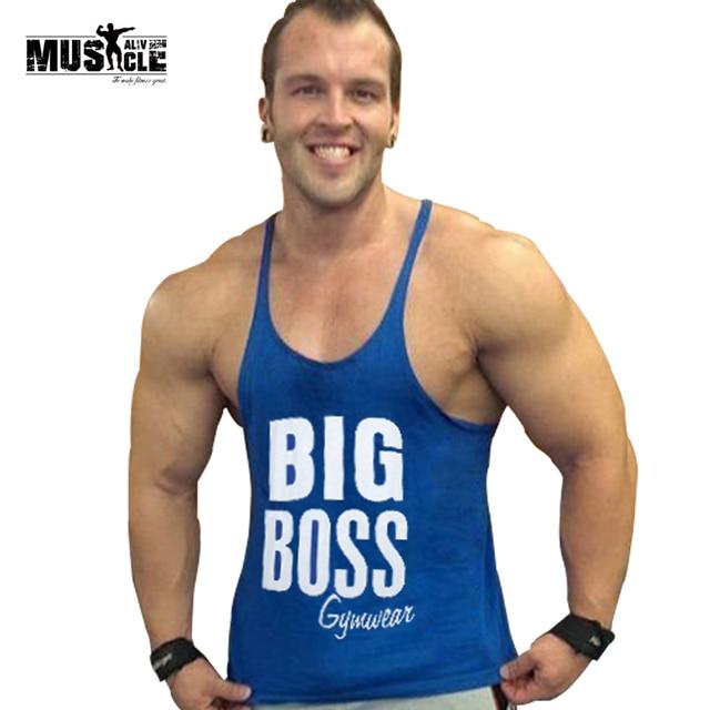 54167f65 MUSCLE ALIVE Gold's Gymwear Tank Top Men Summer bodybuilding stringer tops  Fitness Singlet Sleeveless Undershirt Clothing ZYZZ