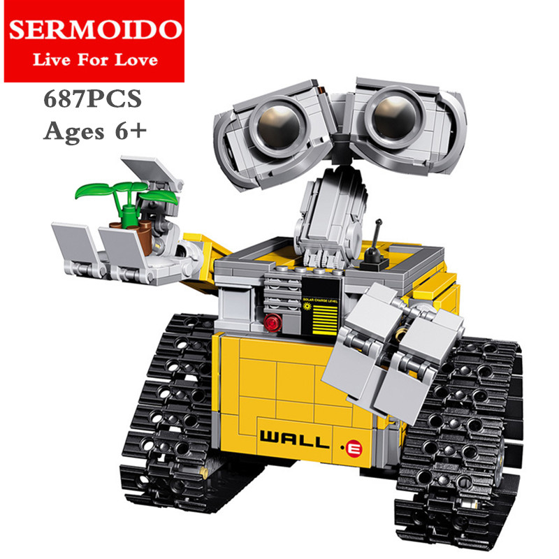 SERMOIDO Idea Robot WALL E 16003 Building Set Kits Toys Educational Bricks Blocks Bringuedos 21303 for Children DIY Gift B97 diy bracelet toys hot diy set puzzle acrylic loom bands bead accessories toys beads for children educational gift toys