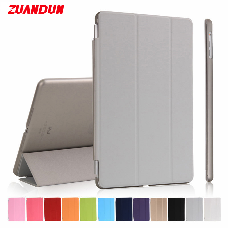 ZUANDUN Flip Smart Case For iPad Pro Transparent Clear Leather Cover For Apple iPad Pro 10.5 inch Luxury Case Auto Wake up Sleep leather case flip cover for letv leeco le 2 le 2 pro black