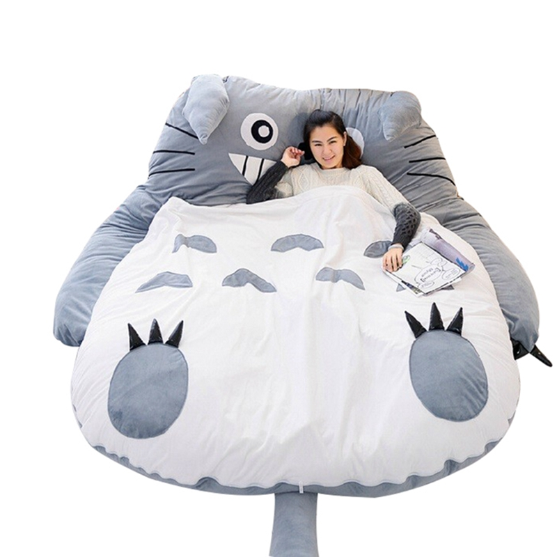 Swell Us 275 71 21 Off Dorimytrader 210Cm X 170Cm Pop Japanese Anime Gray Totoro Plush Bed Beanbag Big Stuffed Cartoon Totoro Sleeping Bag Tatami Sofa In Inzonedesignstudio Interior Chair Design Inzonedesignstudiocom