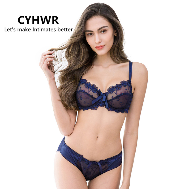 CYHWR Lingerie Women   Bra     Set   Sexy Junior Tops Transparent   Bra   Underwear   Set   Sexy   Bra  &Panty   Sets   A/B/C/D cup
