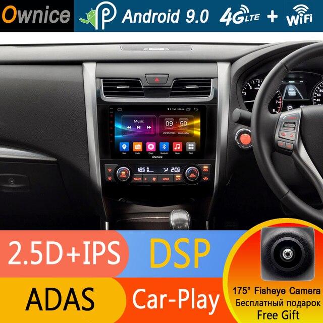 """9 """"IPS 4 グラム Android 9.0 オクタ 8 コア 32 ギガバイト ROM 車 Dvd プレーヤー日産ティアナアルティマ 2013-2016 GPS ADAS ラジオステレオ DSP CarPlay"""