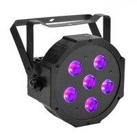 TSSLER 6 1 UV Par aydınlatma Amber + RGBW Dans Zemin Sahne parti Düğün Cadılar Bayramı için Glow LED Yıkama Blacklight Yapıt 55 W 6 led'ler