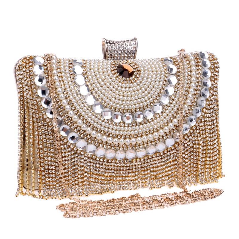 Diamantes de imitación de la borla Embrague Diamantes Con cuentas de - Bolsos - foto 3