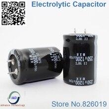2 шт./лот 250 В 1200 мкФ радиальный DIP Алюминий электролитический Конденсаторы размер 30*40 1200 мкФ 250 В