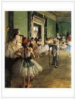 Figurative art affiches toile peinture murale affiches géant affiche accueil art Edgar Degas La Classe de Danse La Danse Classe