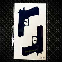 Sexy Black Gun Temporary Tattoo Sticker For Men Women Arm Leg Decals Waterproof Body Art Fake Tattoo Stickers Trendy GAQ-084