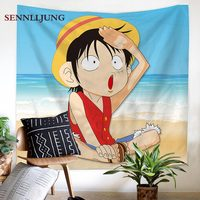 One Piece Anime Tapestry Home Decor Textile Japanese Characters Wall Hanging or Beach Hippie Blanket dorm decor wall tapestry