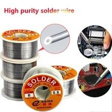 цена на 0.5/0.6/0.8/1.0mm 50/100g Welding Wire Roll FLUX 2.0% 45FT Tin Lead Tin Wire Melt Rosin Core Solder Soldering Wire Roll
