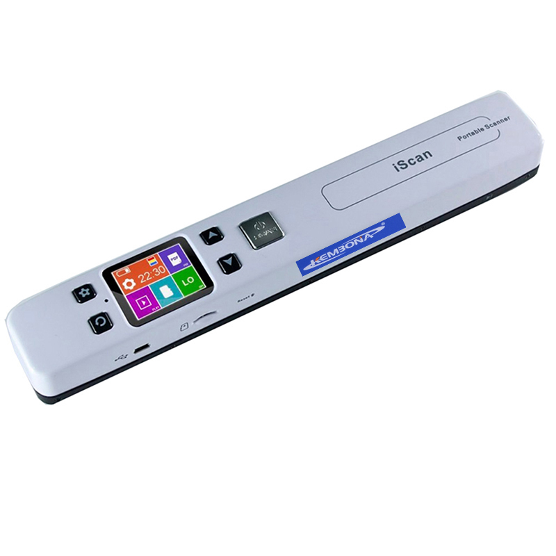 KEMBONA High Speed Portable Scanner A4 Size Document Scanner 1050DPI JPG PDF Support 32G TF Card