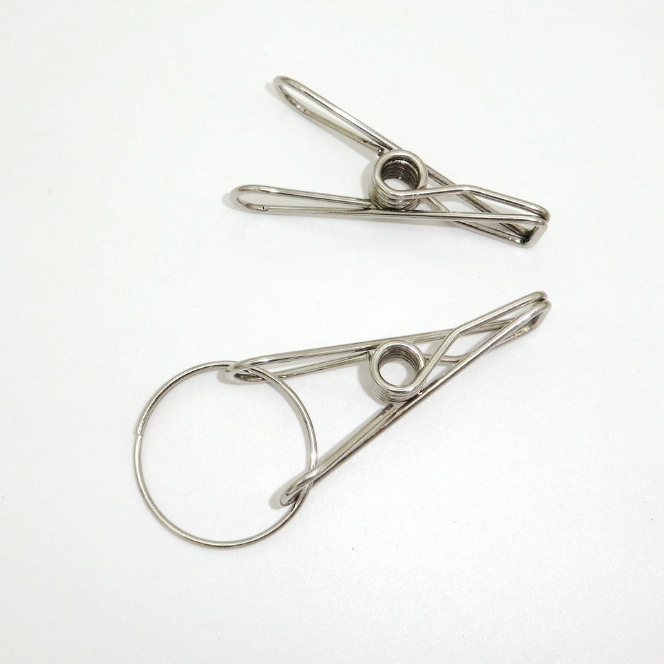 1 pc Stainless steel wire clip with small clip with iron curtain ...