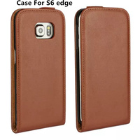 For Samsung Galaxy S6 Edge Open Up And Down Leather Case Wallet Card Stent Cases The