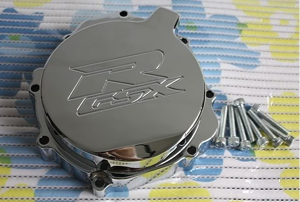 Aftermarket free shipping motorcycle parts Billet Engine Stator cover for Suzuki GSXR1000 GSX-R 2005-2008 left CHROMED aftermarket free shipping motorcycle parts blade style rear foot peg for 1999 2007 suzuki gsx 1300r r hayabusa gsx r chrome