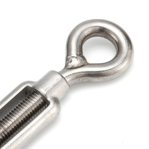 Image 5 - 4 Pcs M4/M5/M6/M8/M10/M12 Eye Hook Turnbuckle Stainless Steel 316 Adjustable Chain Rigging Hook Rotate Chain Wire Rope Tensioner