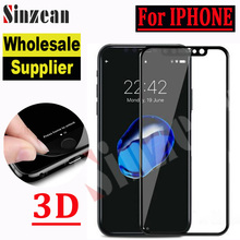Sinzean 200pcs For IPHONE XS MAX/XR 3D Full Cover Carbon Fiber Tempered Glass For IPHONE 678 Plus Soft Screen Protector Film