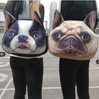 Cute Cat Handbag Women Cartoon Animal Shoulder Bag Funny Dog Children College Students School Bolsas