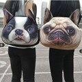 Gato del bolso mujeres hombro Animal de la historieta bolsa perro divertido de los niños escuela los estudiantes universitarios bolsas