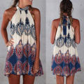 Mujeres mini dress beach floral dress summer casual boho maxi partido de tarde sexy wll9242