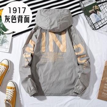 ZQLZ Women Windbreaker Jacket Women Fashion Print Letter Hooded Jacket Basic Jackets Plus Size 5xl Coats Female 11