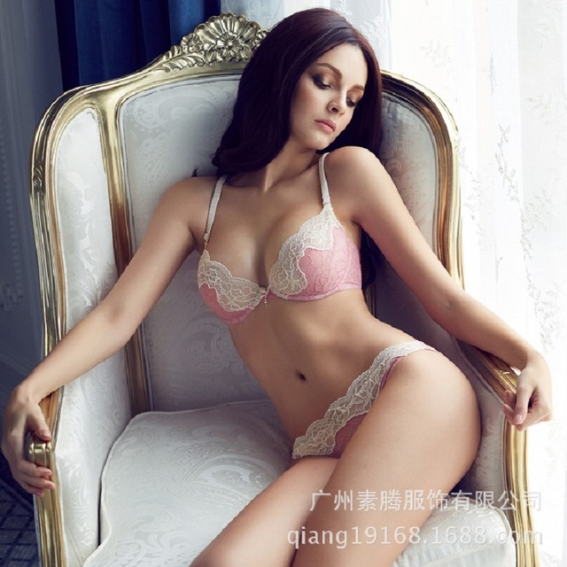 e8a81d093fe1d Fashion Sexy Full Transparent Lace Bra Set Women Underwear Vintage Euro  Ultra-thin Breathable Design