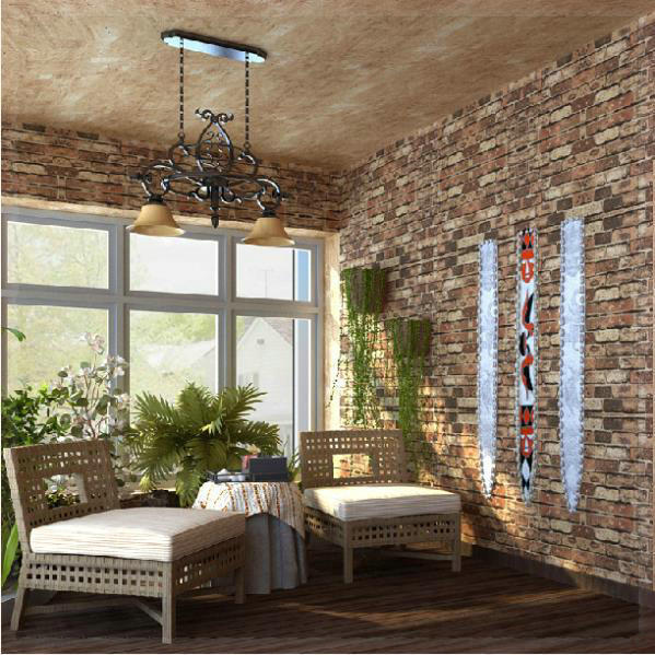 home decor red brick stone paperwall natural rustic vintage 3d effect designer vinyl wallpaper. Black Bedroom Furniture Sets. Home Design Ideas