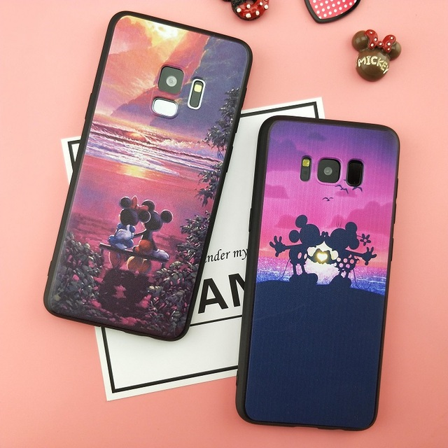 Spring Lemon Mickey and Minnie Couple Beautiful Love Soft Phone Case For Samsung Galaxy S8 S8PLUS S7 S7EDGE