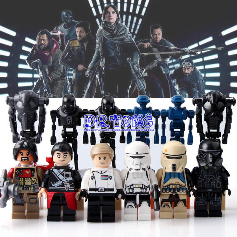 DR.TONG Star Wars Figure K2SO Rogue One Starwars Baze Malbus Troopers K-2SO TX-20 Building Blocks Bricks Toys Child Gifts D910
