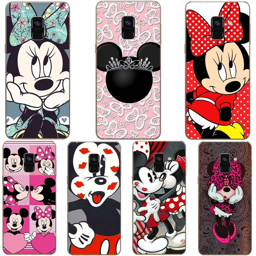 Mickey Mouse mickey Minnie Women Girl Queen PrincessBack Cover Phone Case For Samsung Galaxy A7 2018 A750 A6 A8 Plus 2018 S8 S9 armband for iphone 6
