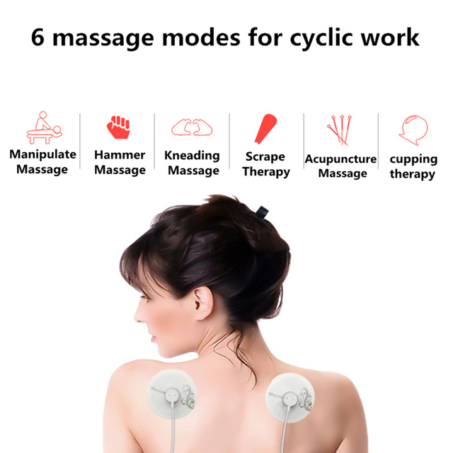 New Portable Muscle Stimulator Body Massager Phone connection Acupuncture Back Neck Tens Therapy Electric Massage Pad relaxation 1
