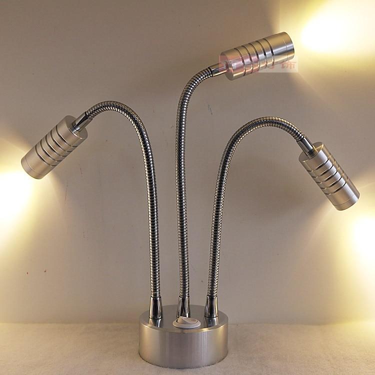 Drei Kopf Schlauch Wiederaufladbare Lampe Batterie Led Mit Dem Tv Einstellung Wand Der Wohnzimmer Ausstellung