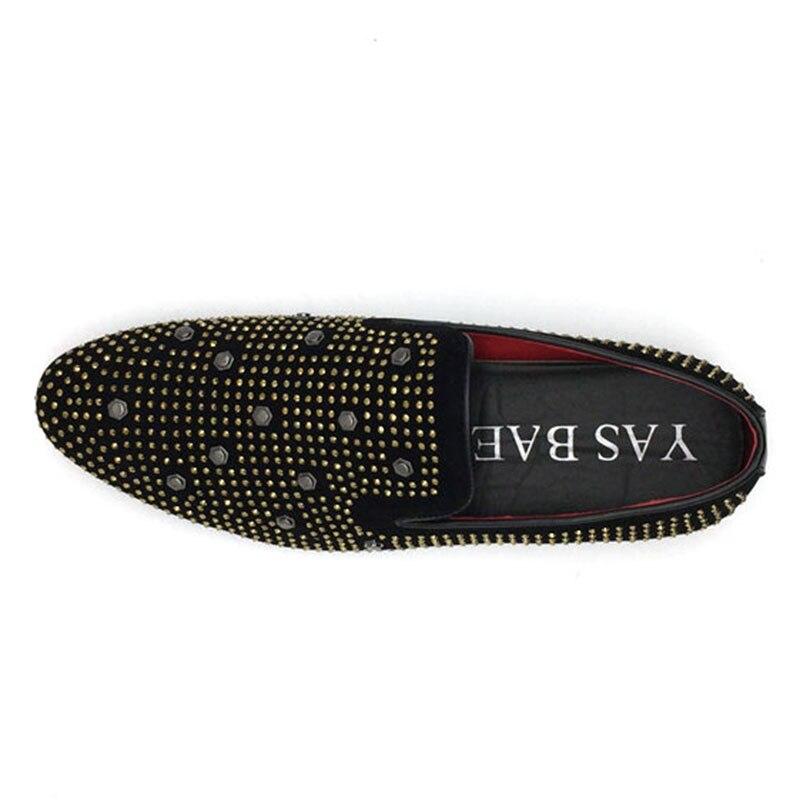 US $24.28 15% OFF|Yas Bae Casual marke rock Schwarzen männlichen Leichte high top besetzte hightop Schuhe street style Tenis chaussur Halbschuhe für