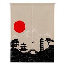 Японский Норен, занавеска для двери, гобелен, хлопок, лен, подвесной дверной занавес, драпировка, балдахин, для дома, чайный домик, украшения, аксессуары
