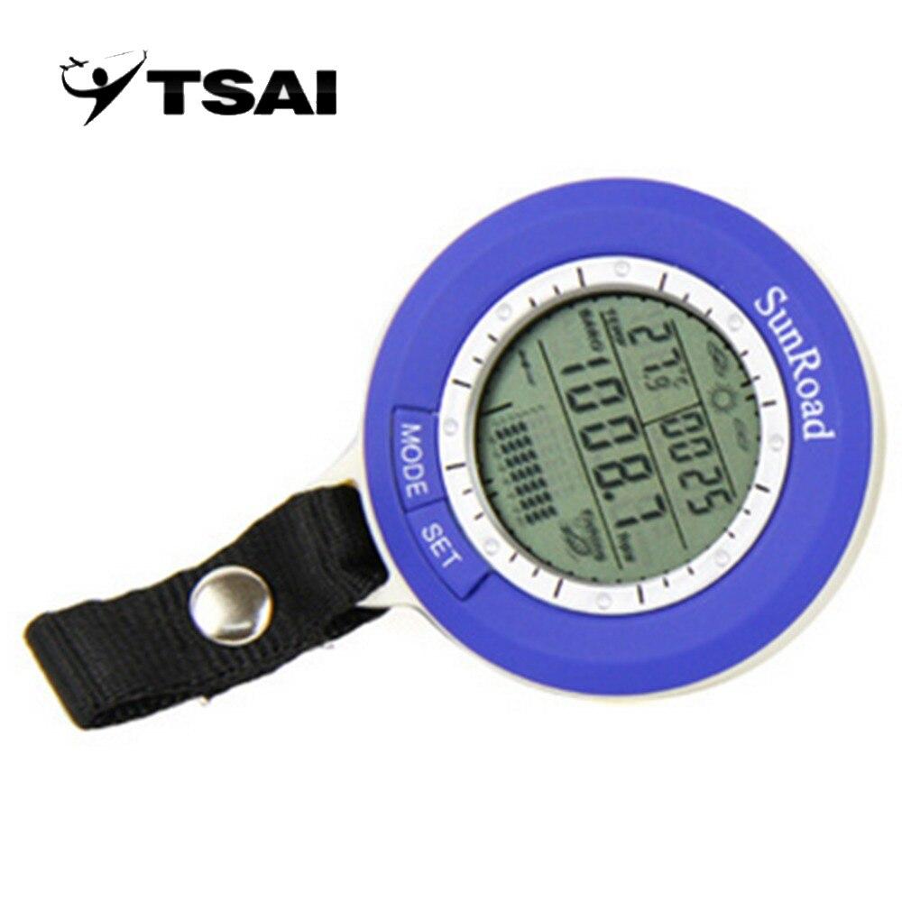 TSAI Baromètre De Pêche Multi-fonction LCD Numérique En Plein Air De Pêche Baromètre Altimètre Thermomètre Livraison gratuite Bien Vendre