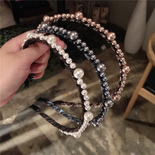 Korea Full Pearl Flower Hairbands Handmade High Quality Hair Accessories For Girls Bows  Hair Band Colorful Headbands For Women серебряный подвес ювелирное изделие br 4 50
