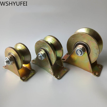 Universal Rotating Pulley Gold M50/60/75 Steel V-shaped Wheel Bearing Wheel Platform Lever Chair Hardware Accessories