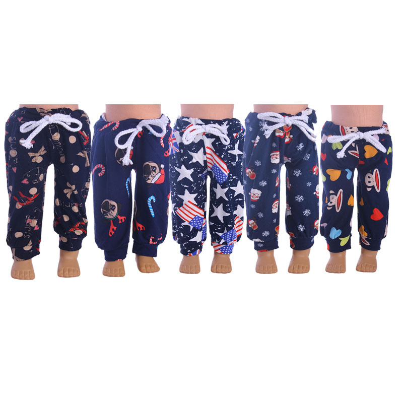 5 styles harem pants 18 Inches American Girl Doll Baby Doll Clothes Accessories Handmade pants