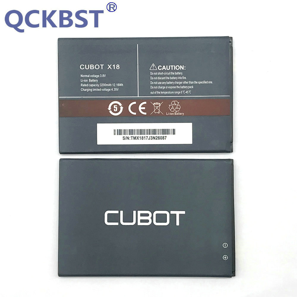 QCKBST New <font><b>Cubot</b></font> <font><b>X18</b></font> 3200mAh <font><b>Battery</b></font> For <font><b>Cubot</b></font> <font><b>X18</b></font> Phone Original Replacement <font><b>Batteries</b></font> In stock image