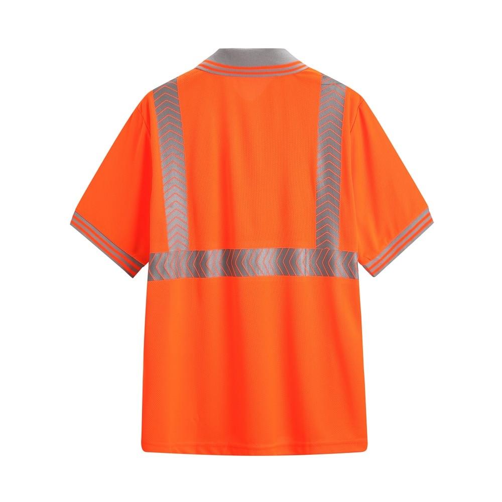 Reflective Polo Shirt High Visibility Polo Safety Short Sleeve Polo