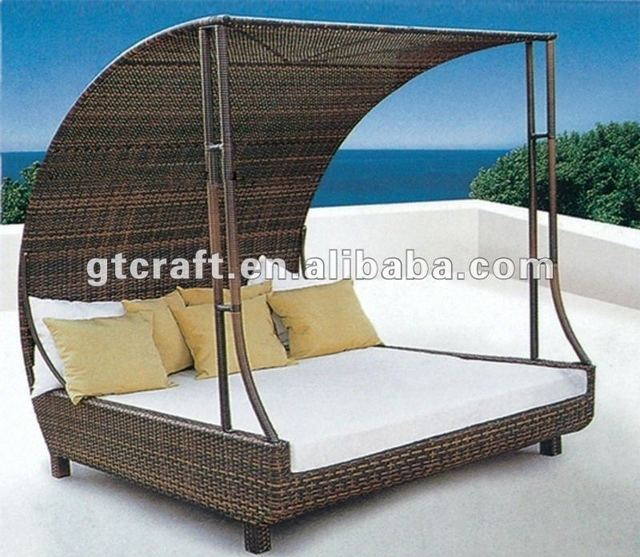 GH BED 32,Outdoor Rattan/ Wicker Bed,Garden Patio Sunbed,