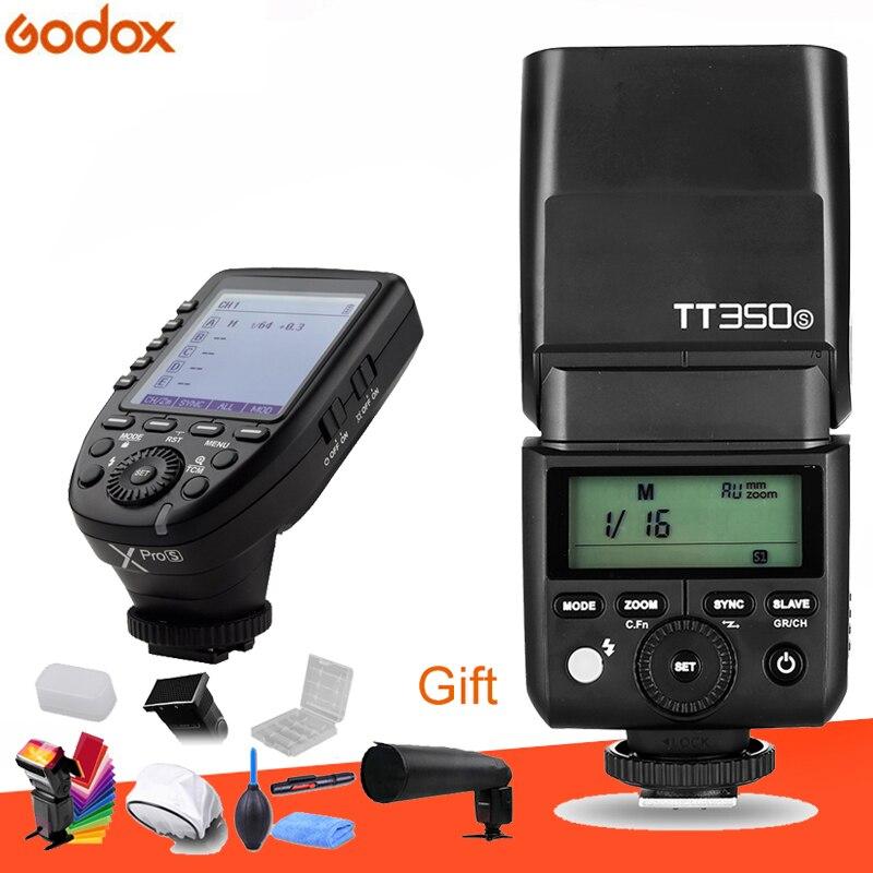 Godox TT350 GN36 2.4g TTL HSS Mini Flash Speedlite + XPro-X Flash Émetteur Kit Trigger pour Canon nikon Sony Fuji Olympus Caméra