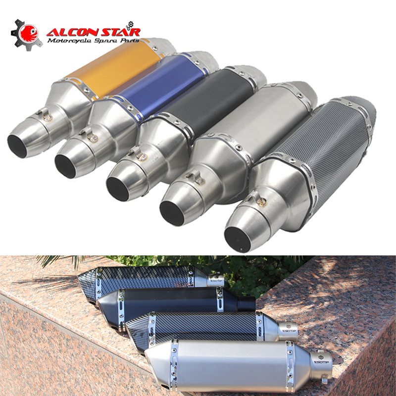 Alconstar 51mm Modified Motorcycle Akrapovic Exhaust Muffler Pipe Escape Moto Dirt Bike GSR 600 MSX 125