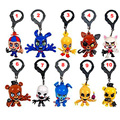 10Pcs/Lot 7cm Five Nights at Freddy's FNAF keychain Characters Toys Collector Clip Key Ring Five Nights at Freddy figure toys