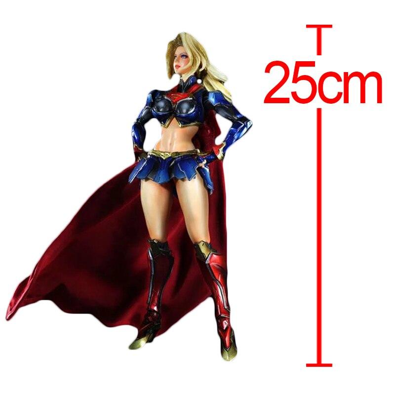 C&F Wonder Woman Action Figure Toys Super Woman Princess Diana Diana Prince 25 CM PVC Model Collectible Garage Kits Toys